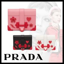 PRADA CAHIER Leather Folding Wallets
