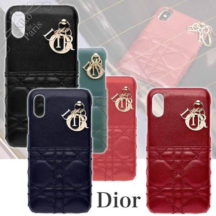 Blended Fabrics Leather Smart Phone Cases