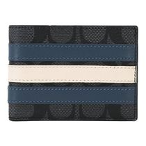 Coach SIGNATURE Stripes Leather Folding Wallets