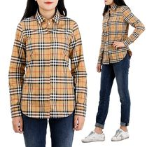 Burberry Tartan Casual Style Long Sleeves Cotton Medium