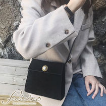 Casual Style Suede Plain Crossbody Small Shoulder Bag