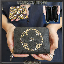 Louis Vuitton ZIPPY COIN PURSE Monogram Leopard Patterns Unisex Canvas Coin Purses