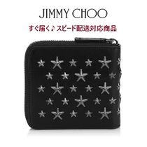 Jimmy Choo Star Unisex Plain Leather Folding Wallets