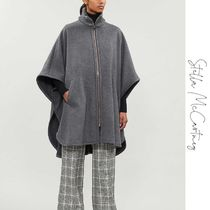 Stella McCartney Wool Street Style Plain Medium Oversized Ponchos & Capes