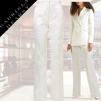 Silk Plain Long Party Style Pants