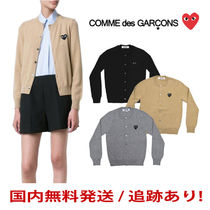 COMME des GARCONS Heart Casual Style Unisex Wool Street Style Long Sleeves