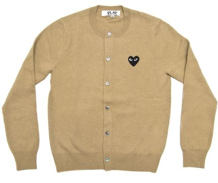 Heart Casual Style Unisex Wool Street Style Long Sleeves