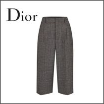 Christian Dior Tweed Plain Medium Culottes & Gaucho Pants