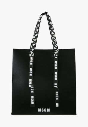 Casual Style Street Style Plain Leather Totes