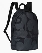 marimekko Flower Patterns Casual Style Street Style A4 Logo Backpacks