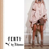 FENTY Collaboration Plain Leather Pin Heels High Heel Boots