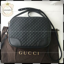 GUCCI Casual Style Leather Crossbody Shoulder Bags