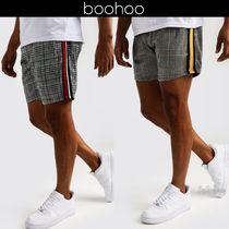 boohoo Printed Pants Other Check Patterns Blended Fabrics