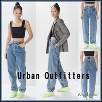Urban Outfitters Denim Street Style Plain Long Wide & Flared Jeans