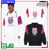 JOYRICH Unisex Nylon Street Style Collaboration Plain Jackets