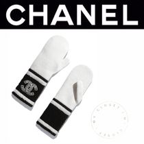 CHANEL ICON Stripes Cashmere Blended Fabrics Street Style Handmade