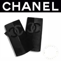CHANEL ICON Suede Blended Fabrics Street Style Plain Handmade Logo
