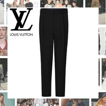 Louis Vuitton Tapered Pants Wool Blended Fabrics Plain Tapered Pants