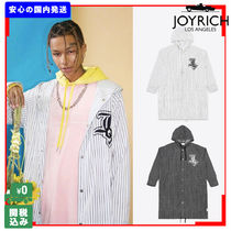 JOYRICH Stripes Unisex Street Style Long Jackets