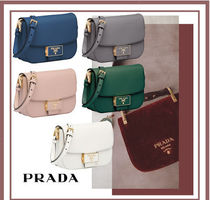 PRADA SAFFIANO LUX Street Style Leather Party Style Shoulder Bags