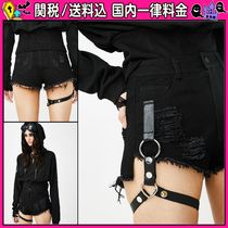 DOLLS KILL Short Casual Style Plain Cotton Denim & Cotton Shorts