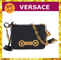 VERSACE Casual Style Leather Shoulder Bags