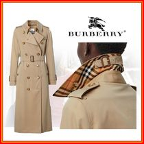 Burberry Medium Elegant Style Trench Coats