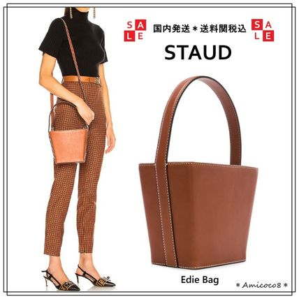 Casual Style Calfskin 2WAY Plain Handbags