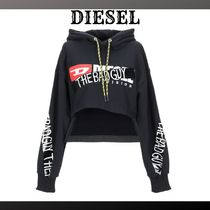 DIESEL Short Street Style Long Sleeves Plain Cotton Cropped