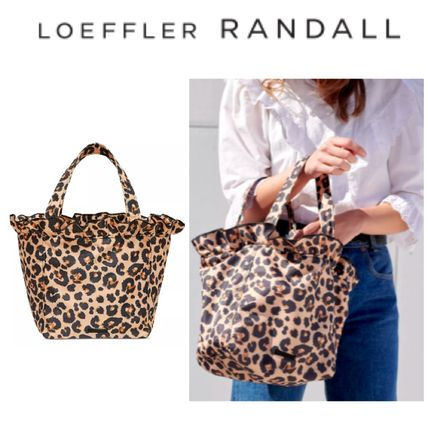 Leopard Patterns Casual Style Nylon Totes