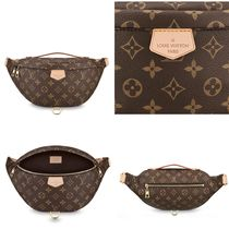 Louis Vuitton BUMBAG Monogram Unisex Street Style Leather Handmade Hip Packs