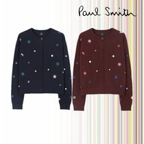 Paul Smith Short Flower Patterns Dots Street Style Long Sleeves Cotton
