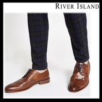 River Island Street Style Plain Leather Oxfords