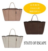 State of Escape Casual Style Unisex Plain Handmade Totes