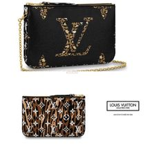 Louis Vuitton MONOGRAM Monogram Leopard Patterns Blended Fabrics Leather