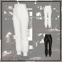 Louis Vuitton Leather Leather & Faux Leather Pants