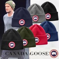 CANADA GOOSE Unisex Street Style Handmade Knit Hats