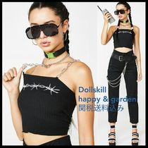 DOLLS KILL Short Casual Style Sleeveless Chain Oversized