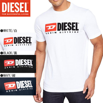 DIESEL Crew Neck Crew Neck Plain Cotton Short Sleeves Logo Crew Neck T-Shirts
