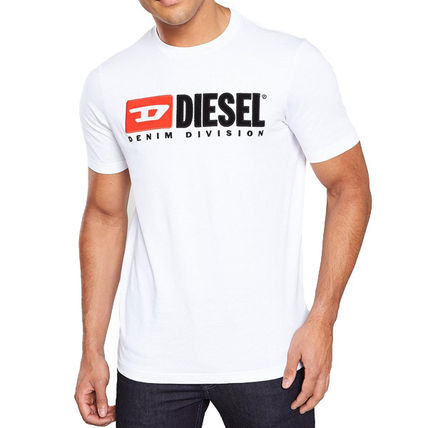 DIESEL Crew Neck Crew Neck Plain Cotton Short Sleeves Logo Crew Neck T-Shirts 2