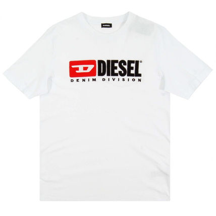DIESEL Crew Neck Crew Neck Plain Cotton Short Sleeves Logo Crew Neck T-Shirts 4