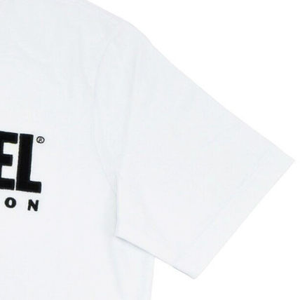 DIESEL Crew Neck Crew Neck Plain Cotton Short Sleeves Logo Crew Neck T-Shirts 5