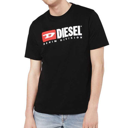 DIESEL Crew Neck Crew Neck Plain Cotton Short Sleeves Logo Crew Neck T-Shirts 7