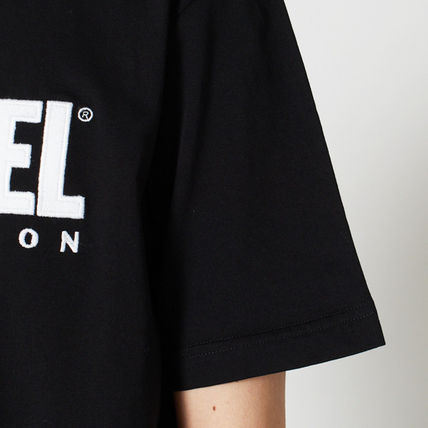 DIESEL Crew Neck Crew Neck Plain Cotton Short Sleeves Logo Crew Neck T-Shirts 9