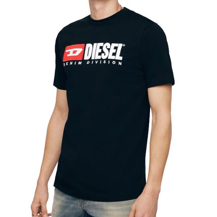 DIESEL Crew Neck Crew Neck Plain Cotton Short Sleeves Logo Crew Neck T-Shirts 12