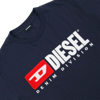 DIESEL Crew Neck Crew Neck Plain Cotton Short Sleeves Logo Crew Neck T-Shirts 16