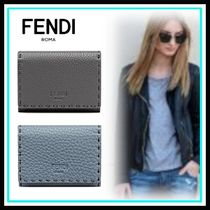 FENDI Blended Fabrics Leather Home Party Ideas Card Holders