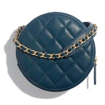 CHANEL MATELASSE 2019-20AW MATELLASE CHAIN CLUTCH blue clutches