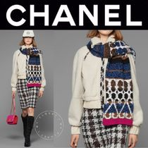 CHANEL ICON Short Blended Fabrics Street Style Plain Leather Handmade