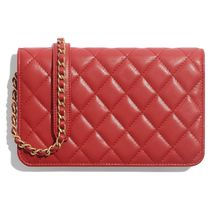 CHANEL MATELASSE 2019-20AW MATELASSE CHAIN WALLET red wallets & cases